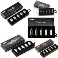 Аутентичные yocan Magneto Pandon загружены Evolve Plus Сменные катушки XL Сменные катушки QDC кварцевый двойной воск Vape Pen E Cigarette 100% оригинал