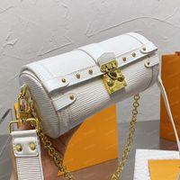 مصمم حلم بابيلون حقيبة اسطوانة جذع M57835 اتجاهات انفصال حزام مخلب سلاسل الذهب اثنين الأشرطة مصغرة الصليب الجسم حقيبة مع محفظة عملة 19 سنتيمتر