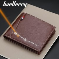 Wallets 2021 Men Name Engraving Card Holder High Quality Male Purse PU Leather Business Carteria