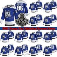 Tampa Bay Lightning Jersey 2021 Stanley Cup Finais Retro 91 Steven Stamkos 86 Nikita Kucherov 77 Victor Hedman 21 Point Hockey Jerseys
