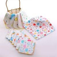 منشفة القطن الشاش ساحة طفل الفتيان المطبوعة اللعاب منشفة مزدوجة الشاش رقيقة منديل طفل صغير منديل 838 X2