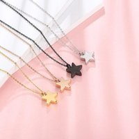 Stainless Steel Star Cremation Urn Pendant Necklacce Perfume Bottles Can Open For Ashes Memorial Jewelry 50cm Necklaces