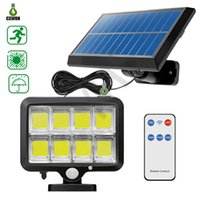 3 Mode Solar wall lamps Outdoor 100 120 160COB Waterproof Motion Sensor LED Lights Street Spotlights With Remote Contorller For Garden Path