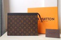 Sac d'embrayage de Luxurys Fichier Forfait Femme Sac à main Enveloppe Sac Sacs de mode Vintage Porte-monnaie Portefeuille Envelope Sac