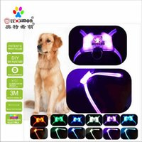 Dog Collars & Leashes CC Simon Dogled Safety Collar Led Harness Puppy Lead Pets Vest 2021