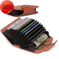 Card Holders Leather Women's Genuine Small Bags Organ Type Set Womens Wallets And Purses Holder Coin Girls Money Bag