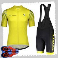 Scott 팀 사이클링 짧은 소매 유니폼 (BIB) 반바지 세트 망 SUNGET BUTHER BOARD 자전거 의류 MTB 자전거 복장 스포츠 유니폼 Y21041499