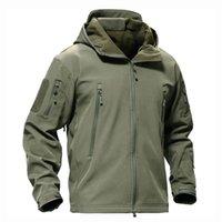 Softshell Sharkskin Tad Tactical Jacket Hombres Camuflaje al aire libre Ropa de caza Militar Senderismo Camping Abrigos con capucha a prueba de viento