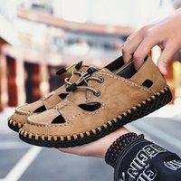 أولوم الصيف الرجال الصنادل ضوء تنفس أحذية الشاطئ الأصلي zapatos دي hombre الكبار جودة عالية الرجال عارضة الأحذية الأحذية المسطحة إسفين A54A #