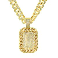 Pendant Necklaces Hip Hop Iced Out Bling Cubic Zirconia The Bando Trap House & Pendants For Men Rapper Jewelry With Tennis Chain