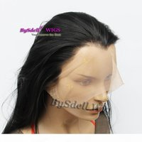 Oldukça doğal görünümlü kalın ağır yoğunluklu ipek düz saç tam dantel peruk sentetik ısıya dayanıklı ücretsiz parça erkekler kadınlar için tam dantel peruk