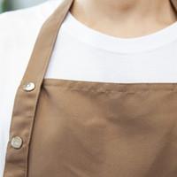 조정 가능한 턱받이 앞치마 드레스 일반 앞치마 방수 오일 증거 프론트 포켓 요리사의 Butchers 바베큐 홈 주방 요리사 공예 2183 V2