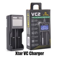 Authentic Xtar VC2 Battery Charger Inteligent Mod Dual Slot with LCD Display for 18350 18550 18650 16650 Li-ion Batteries 100% Original