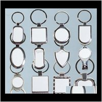 Favor Event Festive Party Supplies Home & Garden12 Styles Keychains For Sublimation Round Love Key Chain Iewelry Thermal Transfer Printing D