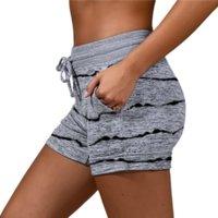 Women's Shorts Stripe Star Print Summer Yoga Running Sport Gym Shor Pants Woman Clothing Will and Sandy