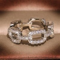 Top Hop Hip Vintage Fashion Jewelry 925 Sterling Silver Cross Ring Pave White Sapphire CZ Diamond Women Wedding Finger Ring Gift