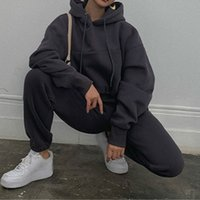 Women' s Tracksuit Short Oversize Hoodie Suit Hooded Lon...