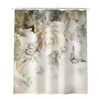 Towel Digital Printing Bathroom Shower Curtain Waterproof Polyester Fabric For Decoration