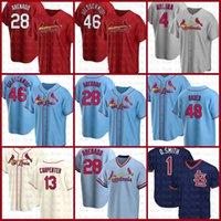 28 Nolan Arenado St. Baseball Jersey Louis Custom Cardinal 46 Paul Goldschmidt 4 Yadier Molina 13 Matt Carpenter 1 Ozzme Smith Bader Green