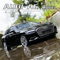 132 AUDI A6 Simulazione Auto Modello Diecast Toy Car 6Doors-Belved Soundslights Hobby per la raccolta Regali di compleanno per bambini