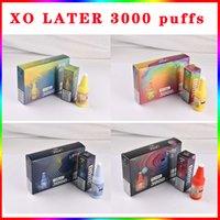 Original XO ultérieur ultérieur des cigarettes électroniques jusqu'à 3000 bouffées authentiques 8 couleurs disponibles 1000 mAh batterie préremplie 8 ml Pod Stick Stick Vapepen Bar Plus Max Max