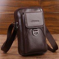 Sacos de cintura 2021 homens crossbody fanny bolsa de couro genuíno moda celular celular case messenger ombro homens cinto pacote