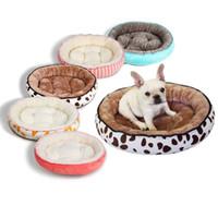 Питомники ручки собака кровать осень зима потепление питомника моющийся Pet круглая мягкий флис спальный лаунджер дом для маленьких средних больших собак