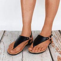 Sandals Leather Shoes Comfy Platform Flat Ortic Arch Support Comfortable Summer Flats T Strap Flip Flops Bunion Correct Women