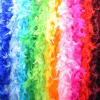Scarves Multi-Color Fluffy Handcraft Ostrich Feather Plume Boas Scarf Clothes For Wedding Decoration Performance Dance Supplies