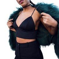 Женские танки Camis по прибытии Европейский бюстгальтер моды женские урожаи топ тонкий сексуальный черный брультт жимы женской одежды сплошной фитнес бралет продажа