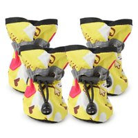 Dog Apparel Non-slip Rainy Day With Shoes Wear Waterproof Candy Colored Pet