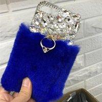 Luxury Handmade Diamond Real Fur Pace для Google Pixel 3 XL 2 1 Lite Finger Кольцо для пальцев Кингустка Chinestone Телефон Coque Cell Cable