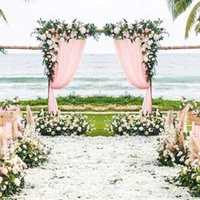 0.8 1.2m DIY Wedding Arch Backdrop Flower Arrangement Party Event Decor Artificial Flowers Wall Silk Rose Peony Plant Garland Decorative & W