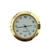 Золотой 1 7/16 дюймовый пластиковый вставка Часы Красивая резда арабский циферблат подходит вверх по подвишению часов 40 шт.