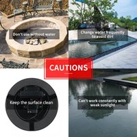 3.8W Solar Panel Powered Water Fountain Pump With Light Swimming Pool Submersible Floating Decor Colorful Lamp Outdoor Garden Decorations