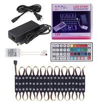 5050 RVB LED Module LED Lumière DC 12V 2A Noir PCB Back Modules Sing Power + 44Key In Color Box Vente IP66 pour les polices lumineuses Éclairage extérieur Crestech Crestech
