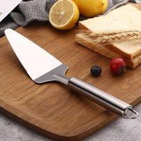 Neue Wohnküche Backen Werkzeuge Edelstahlkuchen Pizza Spatel Gezahnte Rand Dessertmesser Großhandel