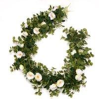Decorative Flowers & Wreaths Party Artificial Plants Fake Eucalyptus Vine Garland Hanging For Wedding Home Office Garden Craft Art Decor