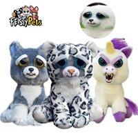 Vesty الحيوانات الأليفة مضحك الوجه تغيير اللعب لينة للأطفال سنو ليوبارد محشوة أفخم يونيكورن غاضب الحيوان الكلب دمية الدب الباندا 210426