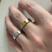 장미 2021 절대로 고전적인 6mm 골드 18K 실버 316L 티타늄 스틸 여성 남성 결혼 반지 다이아몬드 쥬얼리 eFP6에 대한 사랑
