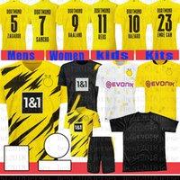 Camiseta de fútbol BVB Borussia Dortmund Camisa de fútbol Haaland # 9 Maillot de Pie 11 Reus Peligro de los hombres # 10 Kits para niños 10 M.Gotze Uniforms Sancho