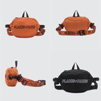 Места + Лица Талия Сумка Мужчины Женщины Оранжевые Черные рюкзаки Уличная одежда Хип-хоп P + F B рюкзак