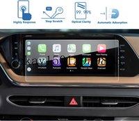 Protecteur d'écran de navigation GPS de la voiture pour Hyundai Sonata DN8 2020, film de protection de verre trempé 9H résistant aux rayures (10,25 pouces)