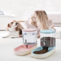 Dogs Automatic Pet Feeder Cat Bereer Dog Bowl Water Feeding Combinazione Combinazione Secchio di stoccaggio alimentare Taglia 43 * 21 * 27