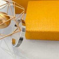 Titanium Prata Declaração de Ouro Declaração Pulseira Cadeias de Jóias Marca por Fashion Designer presentes para mulheres meninas com caixa original ll0026