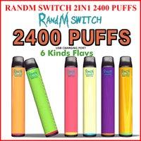 Randm Anahtarı 2in1 Tek Kullanımlık E Sigaralar 1100 mAh Pil 10 ml Pods Vape Kalem Kiti 2400Puffs Elektronik Sigara