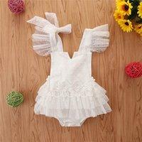 الوليد السروال القصير الطفل الاطفال ملابس اللباس الفتيات الصيف الدانتيل القطن الأميرة المتدرج بذلة داخلية نيسيس قطعة واحدة ملابس B5403