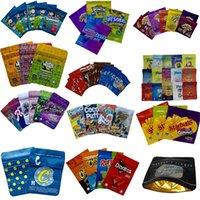 Beutel Verpackung Essbare Tasche Saure Paket Mylar Reißverschluss Geruchsfest Lebensmittel Packtaschen mit Tränenkerch Grün 500mg Blau 600mg Kunststoff Packung