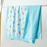 Baby Minky Blankets Toddler Nap Blanket Cartoon Newborn Stroller Sleep Cover Infant Bedding Quilt Swaddling Wrap CGYA253