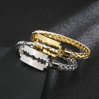 Argento / oro / nero filo in acciaio inox catena intrecciata a catena intrecciata Braccialetto braccialetto braccialetto braccialetto per le donne gioielli da uomo vacanze regali 6mm 2.4 '' interiore